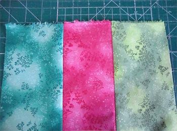 Costure as tiras de tecido