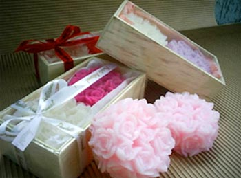 Sabonetes de flores para presente