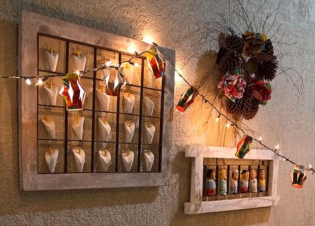 Lanternas de São João usando chita e reciclagem