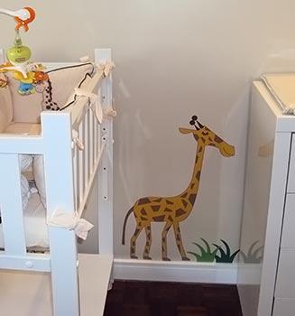 Adesivo para quarto de bebê