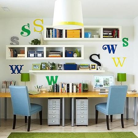Atelier bem aproveitado, espaçoso e decorado
