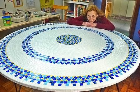 Mosaicos, uma técnica que Vero Kraemer adora