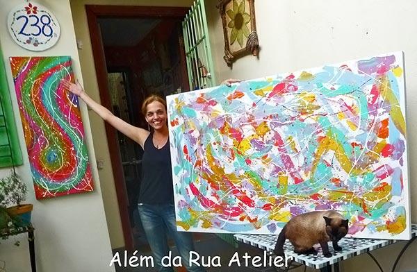 Vero Kraemer e seus trabalhos no Além da Rua Atelier