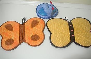 Pegadores de panela em patchwork