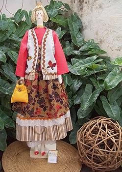 Tilda estilosa, boneca em tecido