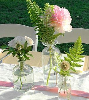 Licoreiras sem licor e com flores