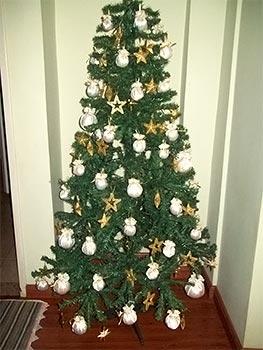 Bolas customizadas para a árvore de Natal