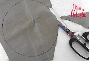 Recorte o molde desenhado