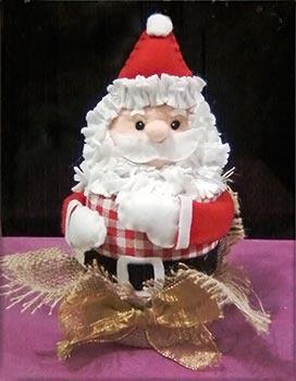 Papai Noel em feltro para enfeitar o Natal