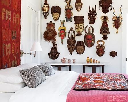 Máscaras também definem um estilo de decoração