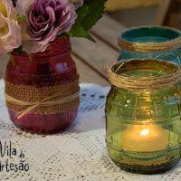 Como tingir potes de vidro para usos decorativos