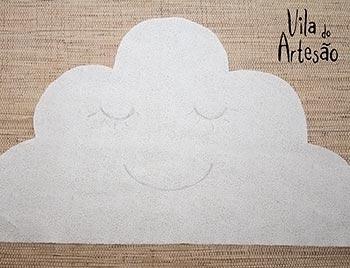 Desenhe a carinha da nuvem
