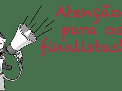 Anúncio dos finalistas