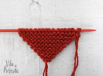 Tricote aumentando pontos