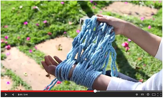 Vídeo aula de tricô de braço Superziper