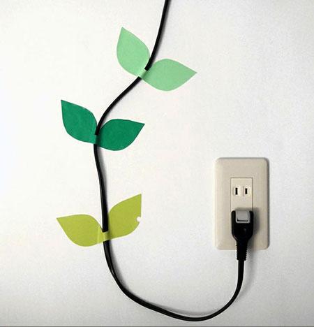 Disfarçando cabos com criatividade