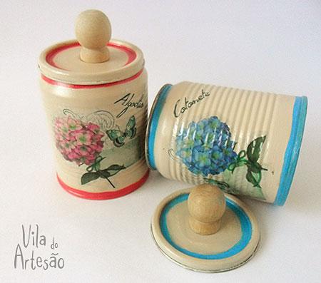 Kit de lavabo decorado com decalque
