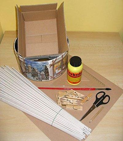 Material para trançar uma cesta