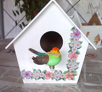 Casinha decorativa de passarinho