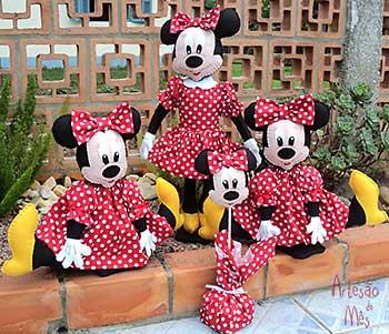 Bonecas Minnie em feltro