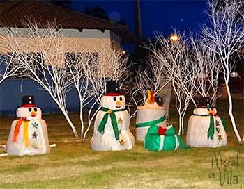 Natal decorado em grande escala