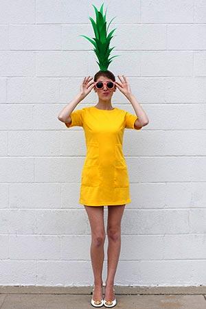 Fantasia de abacaxi para o carnaval