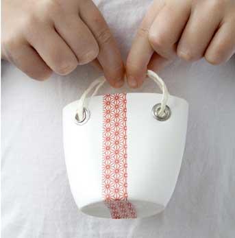 Modelo sacolinha com reciclagem