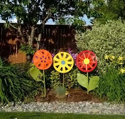 Reciclagem para enfeitar o jardim
