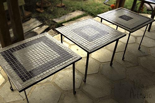 Trio de mesas ninho