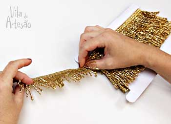 Franjas douradas para o projeto
