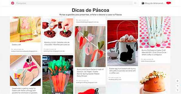 Clique pra conhecer o painel de Páscoa no Pinterest