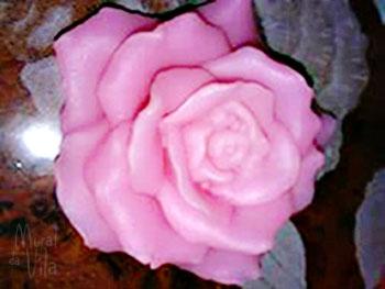 Sabonete de rosa para o dia das mães