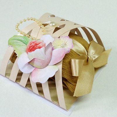 Embalagem treliça para doces e bem-casados