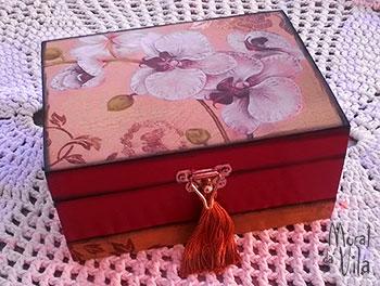 Caixas decoradas para guardar jóias