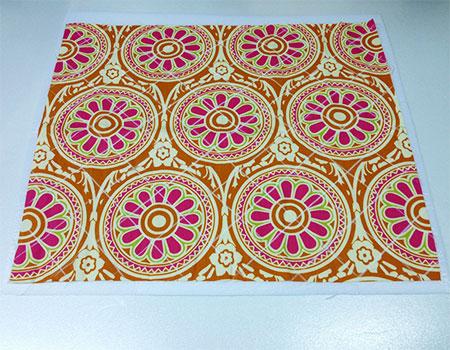 Trace o desenho do quilt e costure