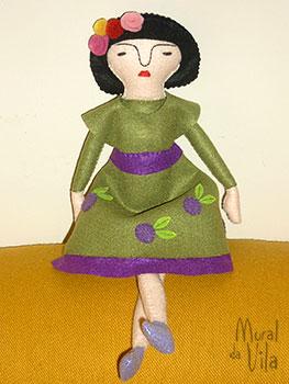 Frida Kahlo em feltro