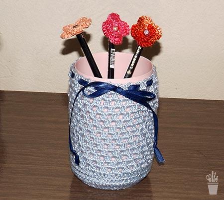 Reciclagem decora com crochê