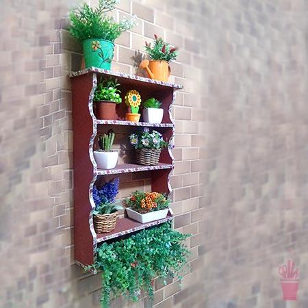 Mini armário para plantas da varanda