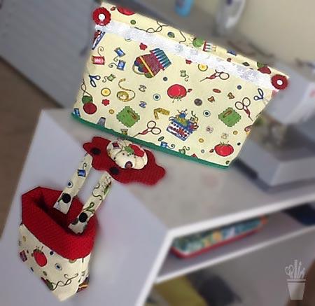 Capa para máquina em patchwork