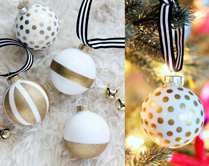 Customize bolas de natal usadas e renove