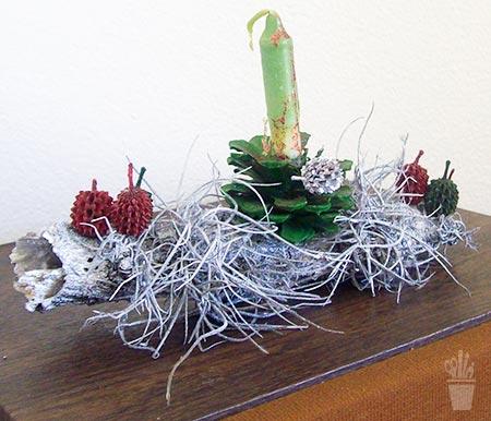 Arranjo de mesa com fibras