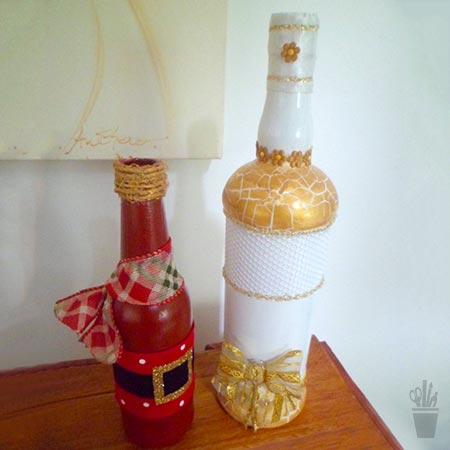 Projetos de natal usando garrafas