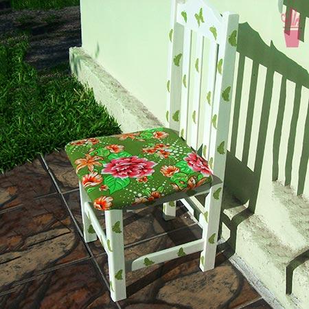 Restauro de cadeira com pintura