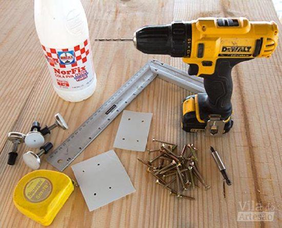 Separe suas ferramentas