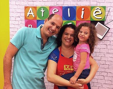 Tatiana Karina no programa de TV