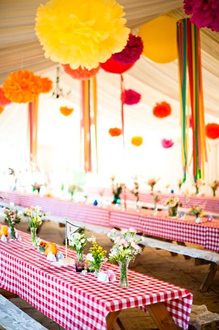 Decoração de salão de festas