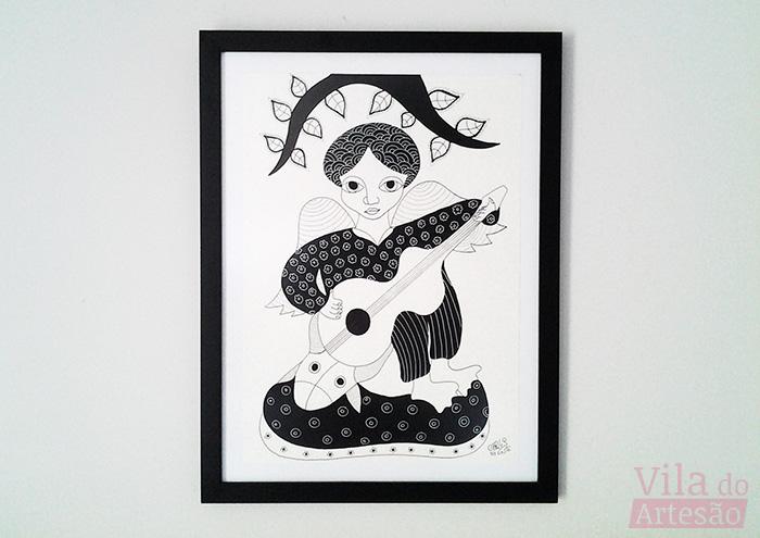 O artista é Carlos Augusto e a arte é o desenho
