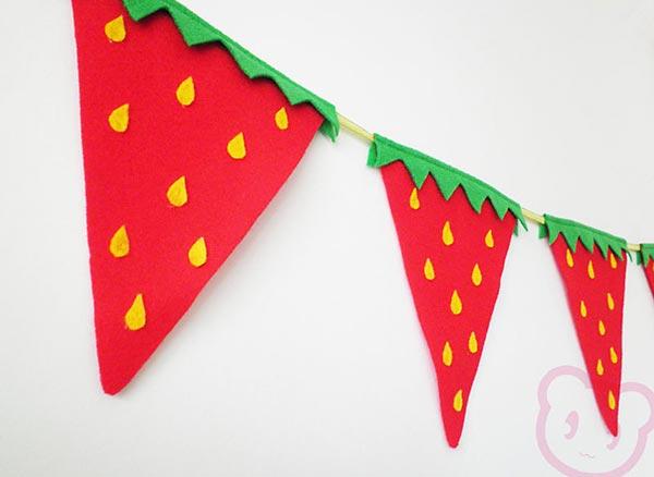 Bandeirolas decorativas de frutas