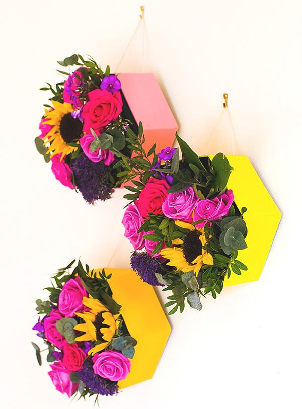 Ideias artesanais para vasos de flores