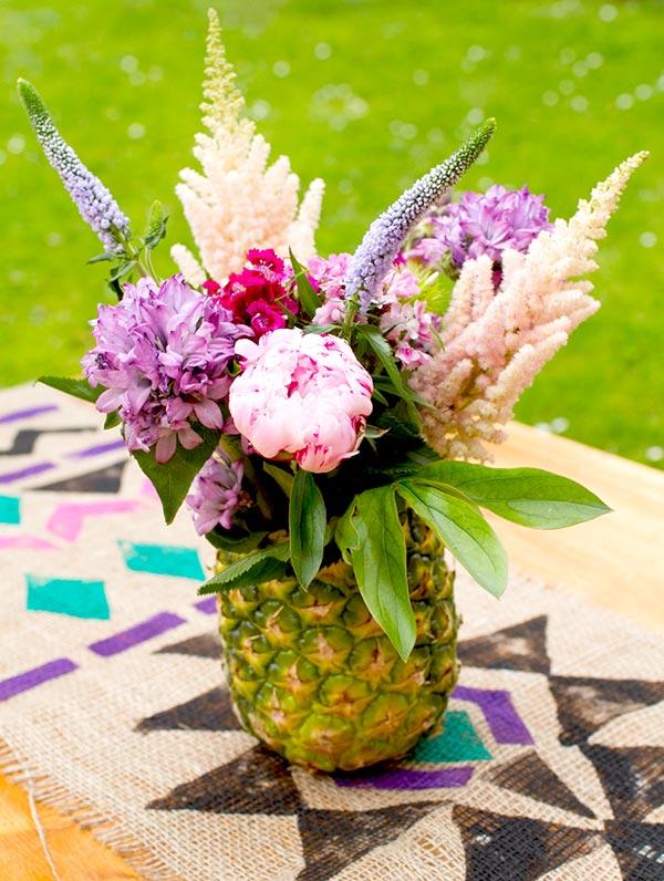 Vaso em casca de abacaxi